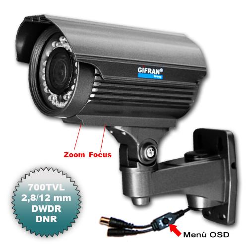 Telecamera Videosorveglianza a circuito chiuso 700 TVL varifocale 2.8-12mm